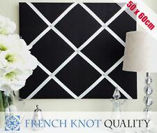 Ribbon notice board, Pin Board, French memo board, photo board Black