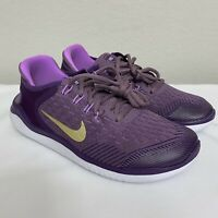 Nike Free Run 2018 (GS) Running Shoes Purple White AH3457-500 Youth NEW Size 7Y