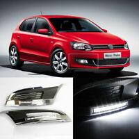 LED Daytime Running Lights DRL+Foglight Cover Fit For Volkswagen Polo 2012