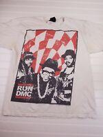 RUN DMC Retro Hip Hop Jam Master Jay T-Shirt short sleeve white size large K9