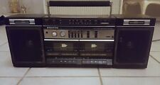 Vintage Sanyo M W225 AM/FM Dual Casette Boombox W/ Detachable Speakers - Works