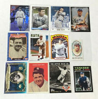 BABE RUTH (12) CARDS LOT - No Dupes - Inserts - Refractors