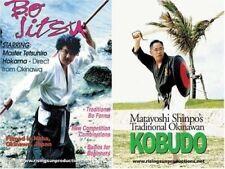 2 Dvd Set Okinawan Kobudo Weapons Matayoshi Hokama bo tongfa kama timbei machete