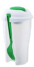 New Innova Portable Healthy Salad Container Includes Fork and Dressing Container
