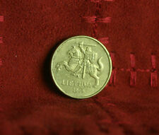 1999 Lithuania 20 Centu World Coin KM107 Amor clad Knight on Horse with Sword