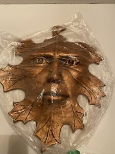 Oak Leaf Man SPIRIT OF THE FOREST FACE Copper Color Metal Carson 1996