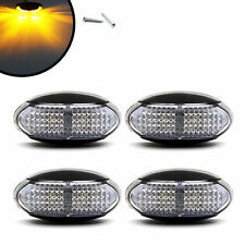 4 PCS AMBER LED SIDE MARKER INDICATOR LIGHT LAMP FOR TRUCK TRAILER BUS