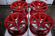 15x8 Wheels Fit Mini Cooper Nissan 240Sx Altima Sentra Civic Accord Red Rims