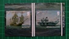 2019 Royal Navy Ships Self Adhesive Set Of 2 Mary Rose 1511 HMS Queen Elizabeth