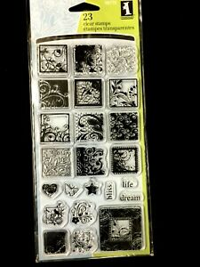 Flourishes Inches Clear Stamp Set by Inkadinkado NEW!
