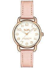 Coach Women's Delancey Blush Leather Strap Watch 28mm 14502750 $250