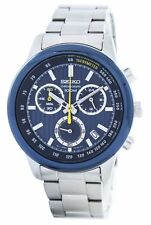 Seiko Sports Chronograph Quartz Tachymeter SSB207 SSB207P1 SSB207P Mens Watch