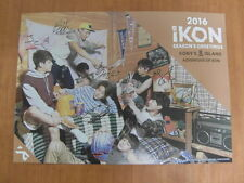 iKON 2016 SEASON'S GREETINGS KONY'S ISLAND [OFFICIAL] POSTER K-POP *NEW*