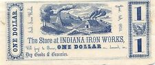 USA Indiana $1 on Demand in Dry Goods & G. 1.1.1856  Uncirculated Banknote G. A1