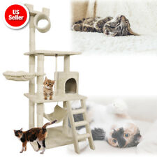 PET PALACE Cat Tree Activity Tower Condo - Hammock, Scratching Posts, and Rope