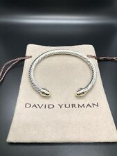David Yurman Cable Classic Bracelet with Gold Dome and 14K Gold 5mm