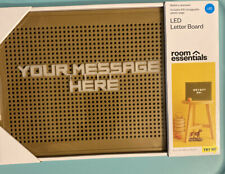 Room Essentials LED Brown Letter Board Message Board Battery Operated New