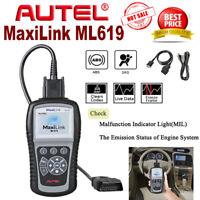 Autel Autolink ML619 ABS SRS Reader Eraser Can Code Scanner OBD2 Diagnostic Tool