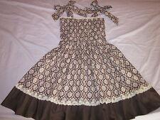 ladies sweet cotton lace layered lolita brown dress