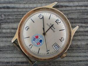 Vintage TIMEX Men's AUTOMATIC Wrist Watch good balance Machinists & Aerospace