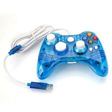 Crystal Blue Wired Controller Gamepad For Microsoft Xbox 360 PC Windows 10 CA