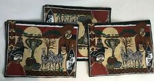African Tribal Theme 6 x Handmade Fabric Table Placemats Multicoloured W945