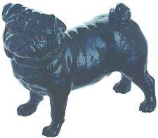 John Beswick standing Black Pug dog ornament figure