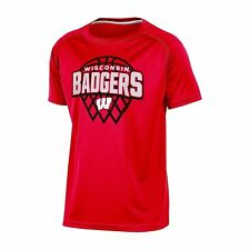 Champion Wisconsin Badgers Boys Basketball Performance T-Shirt Large Red