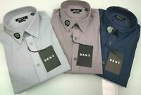 DKNY Men's Slim Fit Button Front Stretch Shirt Variety