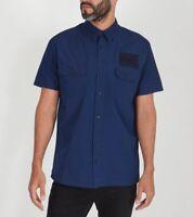 Edwin Ronin Short Sleeve Shirt. Indigo. Medium      (E15)
