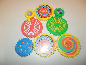 TOMY Gearation Replacement Magnets Gears Refrigerator Building Toy - 8 pcs Vtg