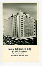 General Petroleum Building RPPC Vintage MOBIL GAS Photo—Los Angeles 1949