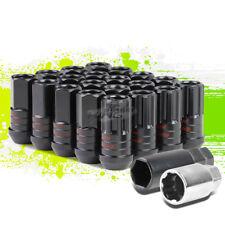 JDM ALUMINUM BLACK M12X1.5 25MM OD OPEN-END 45MM LUG+LOCK NUTS 20PCS+KEY+ADAPTER