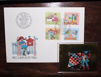 "FRANCOBOLLI STAMPS SWITZERLAND 1984 ""PRO JUVENTUTE"" FDC COVER + BOOKLET (CAT.X)"
