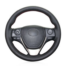 For Toyota RAV4 Auris Hand-stitch Steering Wheel Cover Black Artificial Leather