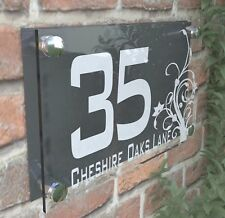 Clear Acrylic House Sign Modern Decorative Door Number Name Plaques Dec4-10WA