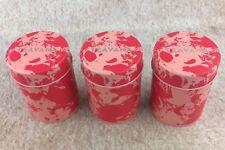 NEW Set of 3 Teavana Loose Leaf Tea Tins Mini Canisters w/ Air Tight Seal Pink