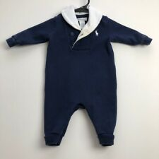 Ralph Lauren Baby Clothing 3 Months 3M Blue White One Piece Snap Closure Preppy
