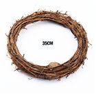 Wreath Rattan Home Diy Wicker Wedding Artificial Vine Ring Garland Party Decor+