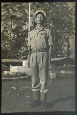Guerre d'INDOCHINE 1953, officier de l'A.N.V; Tirage argentique d'époque 12x18