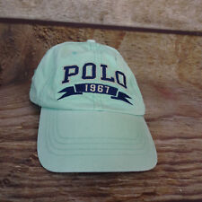 POLO RALPH LAUREN Strap Back Dad Chino Offshore Hat Cap Buckle 1967 Spell Out