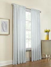 """Anna Thermalace Lace Pole Top Insulated Curtain Panel Pair, White, 63"""" Length"""