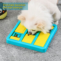 Dog Puzzle Food Slow Feeder Dispenser Plate for IQ Training Interactive Toy