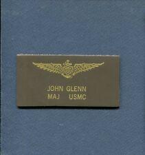 Astronaut JOHN GLENN USMC Marine WW2 Korean War Fighter Squadron Name Tag Patch