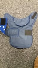 Teacup chihuahua . Waterproof dog coat .size xxxs. navy with royal white stars