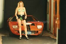 CAR GIRL Blonde Woman FOUND PHOTO Original Snapshot VINTAGE 98 6 X