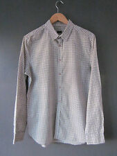 "PAUL SMITH SHIRT (L-40""-FITTED) GREEN CHECK COTTON LONG SLEEVE S/CUFFS Excellent"