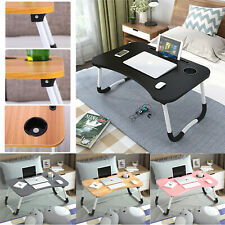 More details for folding laptop table stand notebook computer breakfast desk sofa bed picnic tray
