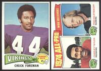 1975 TOPPS FOOTBALL - YOU PICK NUMBERS #201 - #400 - NMMT OR BETTER