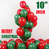 50-100 Merry Christmas Latex Balloons Green & Red Xmas Decoration helium balloon